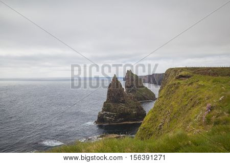 Duncansby Head sea stacks John O Groats. Scottish Highlands Far North Scotland