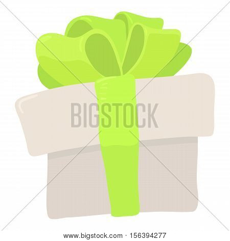 Gift icon. Cartoon illustration of gift vector icon for web