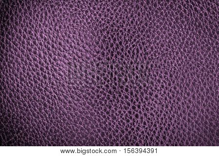 Purple leather texture or leather background. Leather sheet for making leather bag leather jacket furniture and other. Abstract leather pattern for design with copy space for text or image.