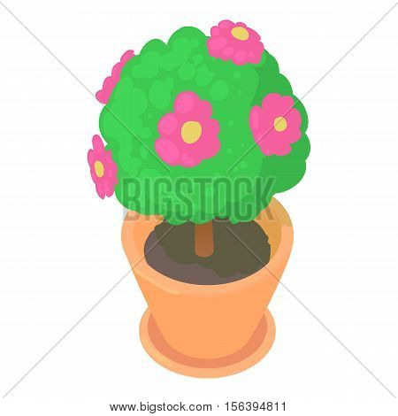 Flower pot icon. Cartoon illustration of flower pot vector icon for web