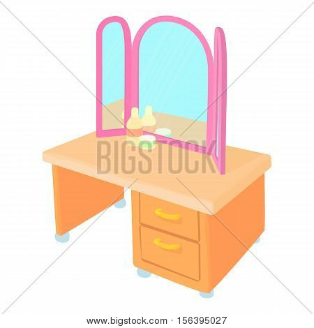 Pier glass icon. Cartoon illustration of pier glass vector icon for web