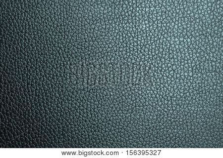 Blue leather texture or leather background. Leather sheet for making leather bag leather jacket furniture and other. Abstract leather pattern for design with copy space for text or image.