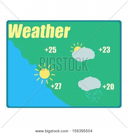 Weather forecast icon. Cartoon illustration of weather forecast vector icon for web