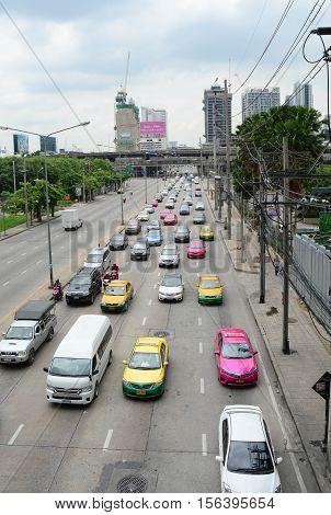 Traffic At Rush Hour In Bangkok, Thailand