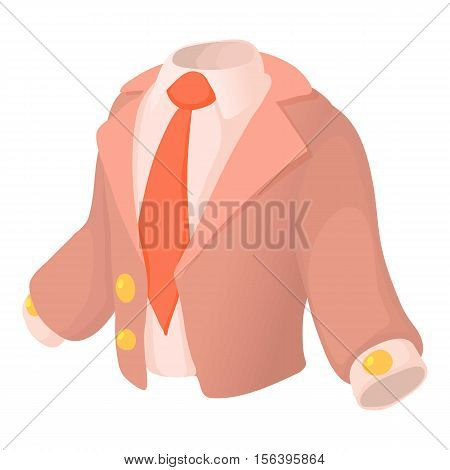 Suit icon. Cartoon illustration of suit vector icon for web