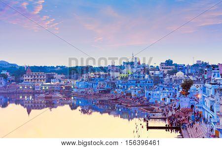 Sacred Pushkar Lake, Rajasthan, India