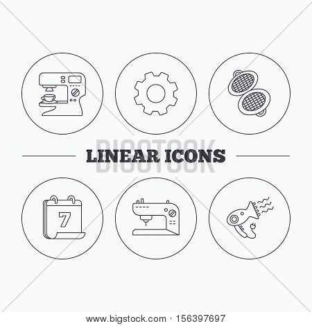 Coffee Maker Sewing Vector Photo Free Trial Bigstock