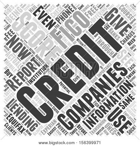 Understanding what a credit score is word cloud concept