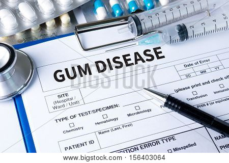 Gum Disease  Medical Concept Doctor Gum Disease Stages