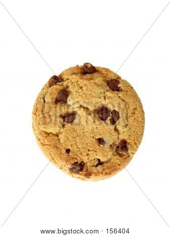 Chocolate Chip Cookie - From Top (path Included)