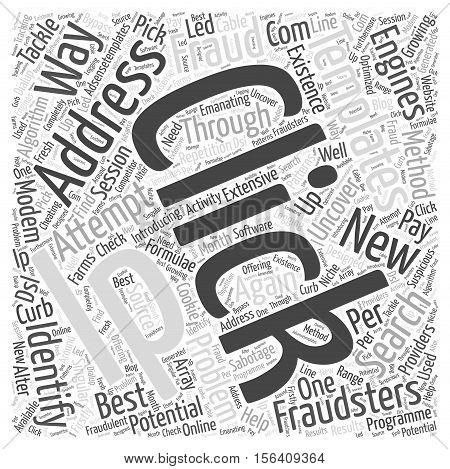 Ways to Identify and Tackle Click Fraud word cloud concept