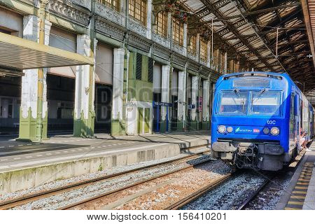 Paris, France - July 09, 2016 : Commuter Train At The North Railways Station(gare De Nord). Commuter