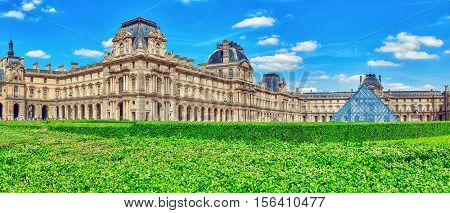 Paris, France - July 06, 2016 : Louvre Museum In Paris. The Louvre Is The Biggest Museum In Word Wit