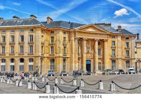 Paris, France - July 08, 2016 : Pantheon-sorbonne University , Also Known As Paris 1, Is A Public Re