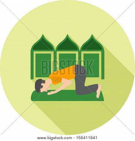 Muslim, pray, people icon vector image. Can also be used for people. Suitable for web apps, mobile apps and print media.