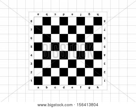 The white-and-black chessboard on the black background