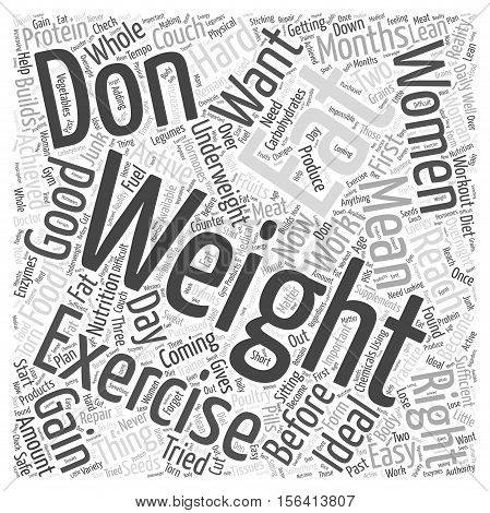 What Can Women do to Gain Weight word cloud concept text background