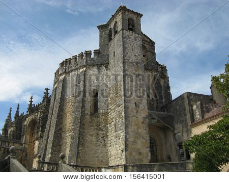 The main church of the Convent of Tomar constructed by the Knights Templar, Tomar, Portugal