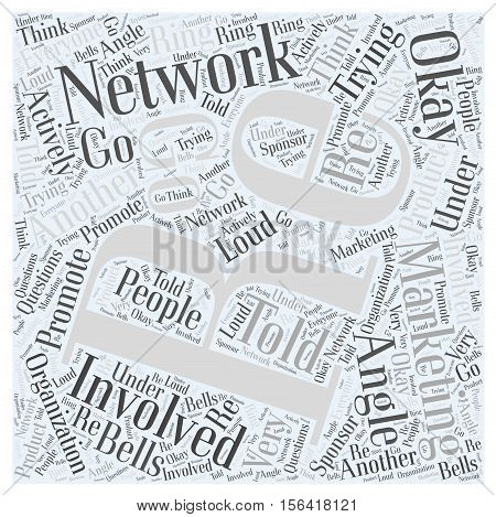 What is Network Marketing word cloud concept text background
