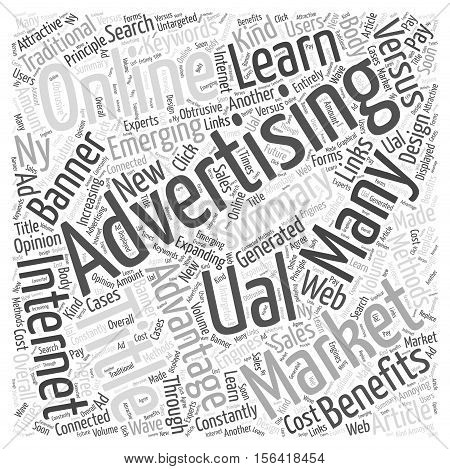 What is Textual Advertising word cloud concept text background