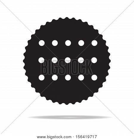 cookie icon with shadow. cookie icon on white background.