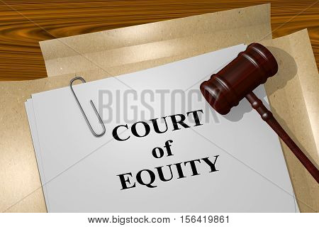 Court Of Equity Concept