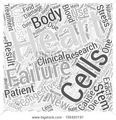 What New Therapies for Treatment of Congestive Heart  text background Failure word cloud concept