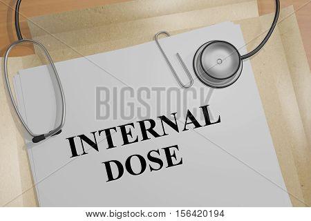 Internal Dose - Medical Concept