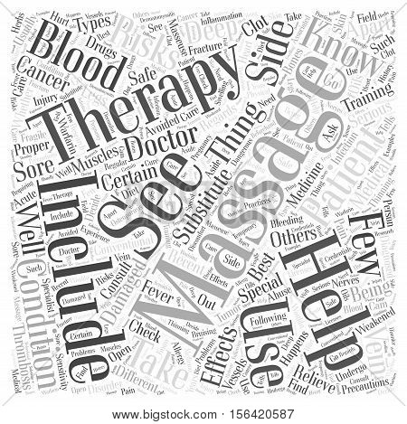What Should You Know About Massage Therapy word cloud  text background concept