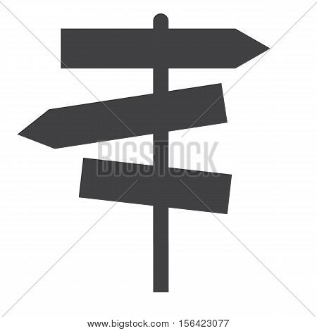 sign road icon on white background. guide post icon.