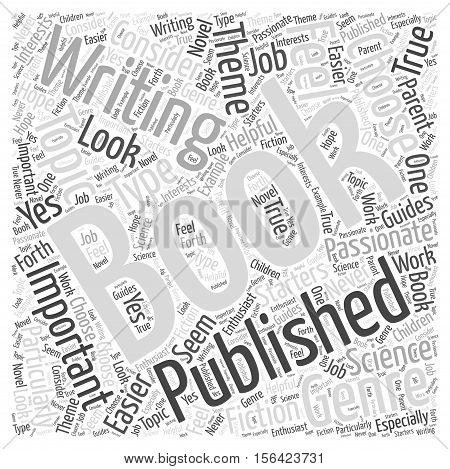 What Type of Books Are Easier to Get Published word cloud  text background concept