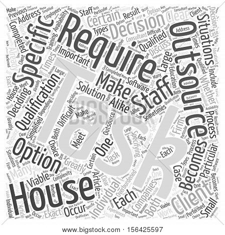 When Outsourcing Is The Only Option word cloud concept text background