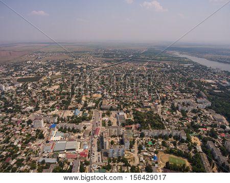 Aerial View Of The Saki City. Peninsula Of Crimea.
