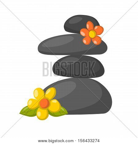 Vector Cartoon Relax, Massage Stones