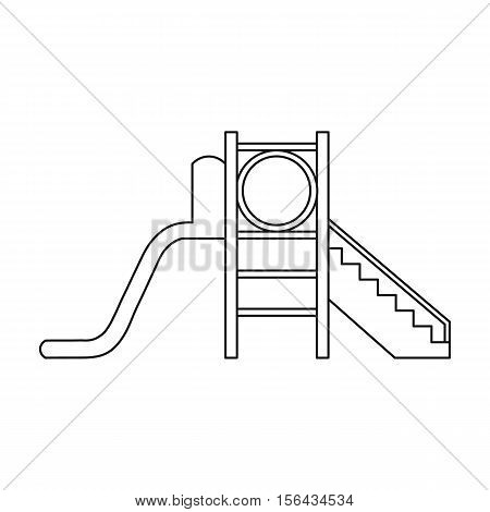 Playground slide icon in outline style isolated on white background. Play garden symbol vector illustration.