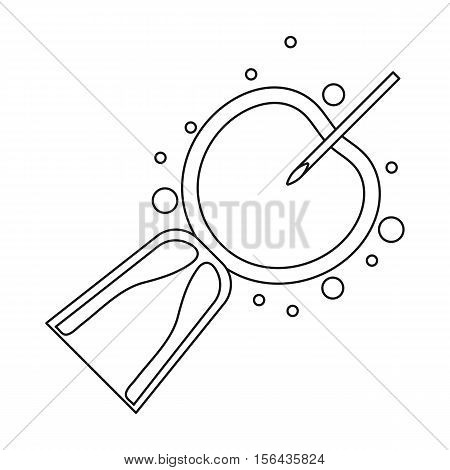 Artificial insemination icon in outline style isolated on white background. Pregnancy symbol vector illustration.