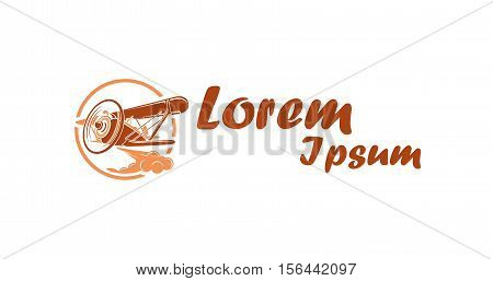Icon for aeronautics industry vector logo design