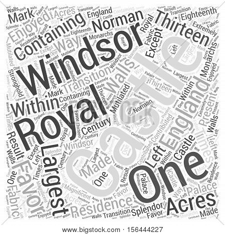 Windsor Castle word cloud text background concept