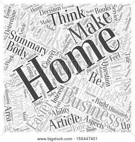 Work From Home Businesses Easier Than You Think word cloud concept