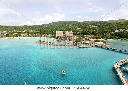 Ocho Rios in Jamaica during bright day