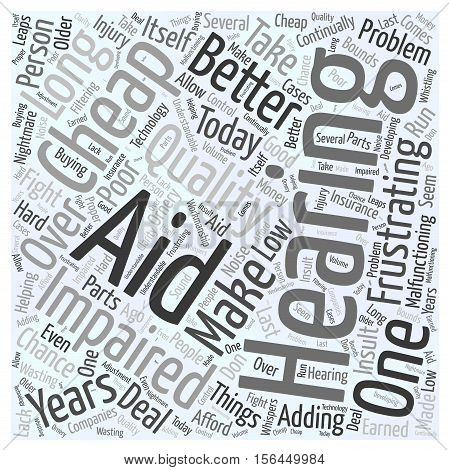 Would You Take a Chance on a Cheap Hearing Aid word cloud concept