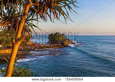 Tanah Lot Temple in Bali Indonesia - nature and architecture background
