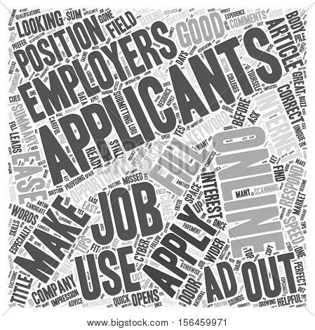 How to Apply for Jobs Online word cloud concept