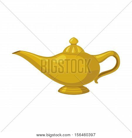 Oil lamp Icon in flat style isolated on white background. Vector illustration.