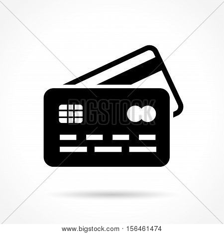 Illustration of credit card icon on white background