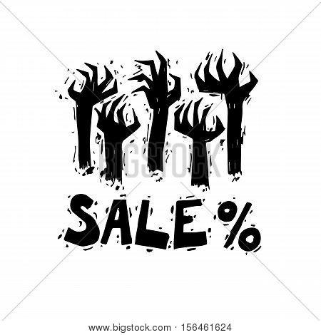 Sale. Discount. Shopping. Black Friday. Cy-ber Monday. Flat design vector illustration.