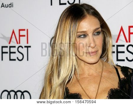 Sarah Jessica Parker at the AFI FEST 2016 Opening Night Premiere of 'Rules Don't Apply' held at the TCL Chinese Theatre in Hollywood, USA on November 10, 2016.