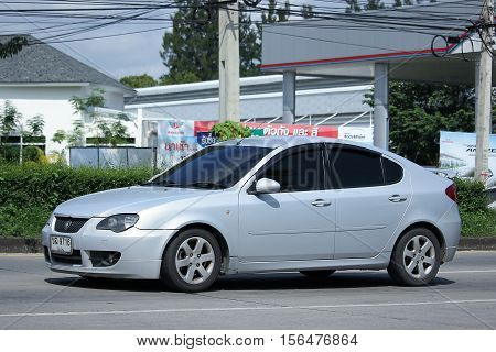 CHIANG MAI THAILAND - OCTOBER 9 2016: Private car Proton Persona. Photo at road no.121 about 8 km from downtown Chiangmai thailand.