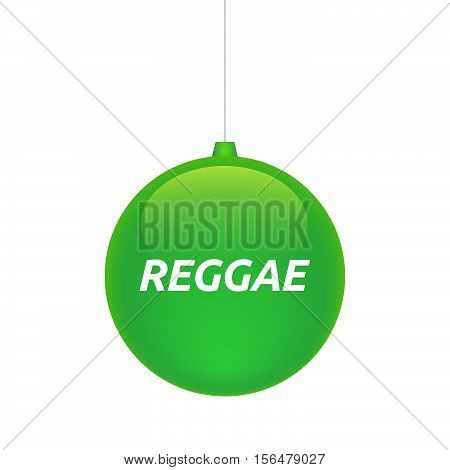 Isolated Christmas Ball With    The Text Reggae
