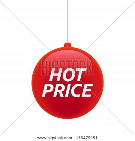 Isolated Christmas Ball With    The Text Hot Price